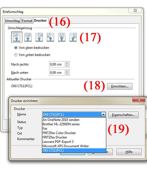 Briefumschläge mit OpenOffice Adressieren - Teil 5 | BILD VERGÖSSERN