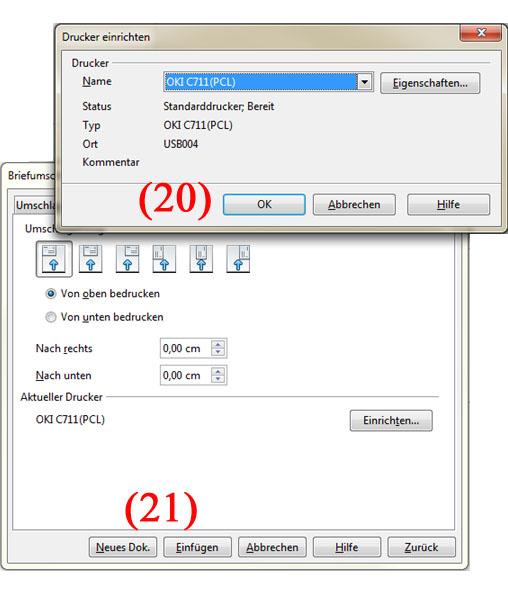Briefumschläge mit OpenOffice Adressieren - Teil 6 | BILD VERGÖSSERN