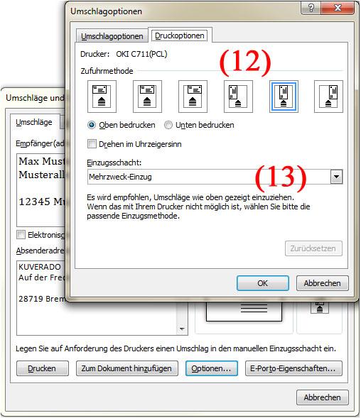 Briefumschläge mit Microsoft Word Adressieren - Teil 5 | BILD VERGÖSSERN