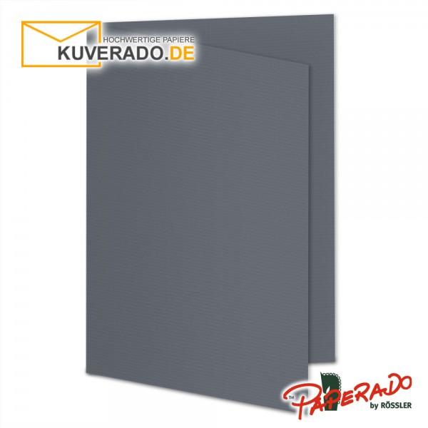 Paperado Karten in schiefer grau DIN A5