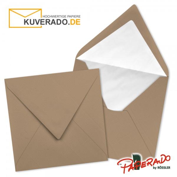 Paperado quadratische Briefumschläge in haselnussbraun 164x164 mm