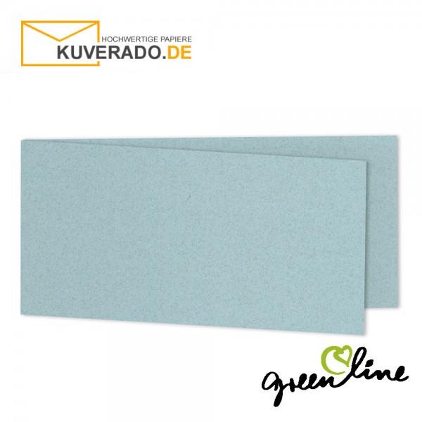 ARTOZ Greenline pastell | Recycling Faltkarten in misty-blue DIN lang