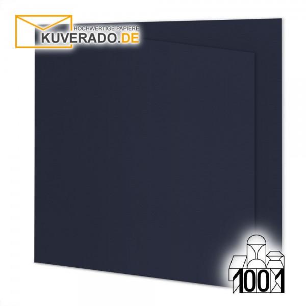 Artoz 1001 Faltkarten navy-blau quadratisch 13x13 cm mit Wasserzeichen