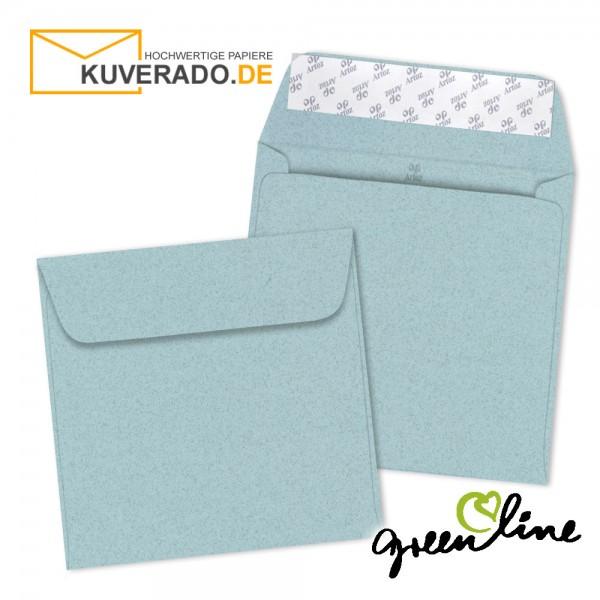 ARTOZ Greenline pastell | Recycling Briefumschläge in misty-blue quadratisch