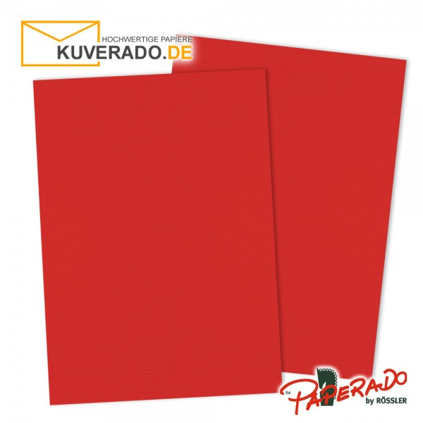 Paperado Briefpapier in tomatenrot DIN A4 160 g/qm