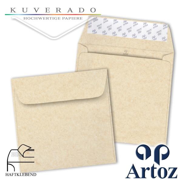 Artoz Rustik marmorierte Briefumschläge weiß quadratisch