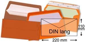 110x220 mm (DIN lang)   orange