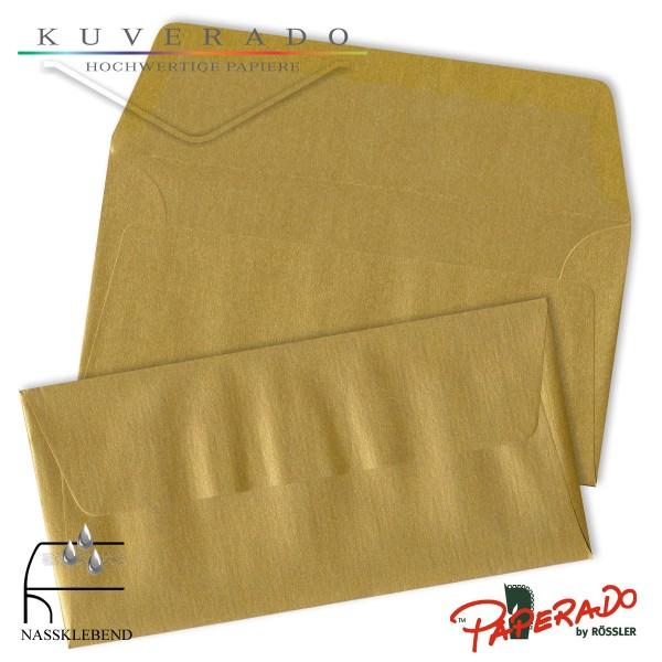Paperado Briefumschläge in gold DIN lang