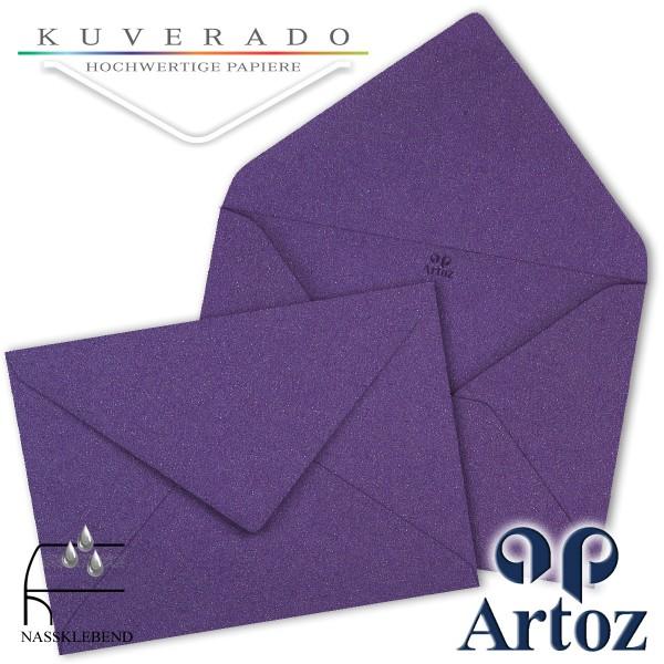 Artoz Klondike Briefumschlag in amethyst-metallic DIN E6