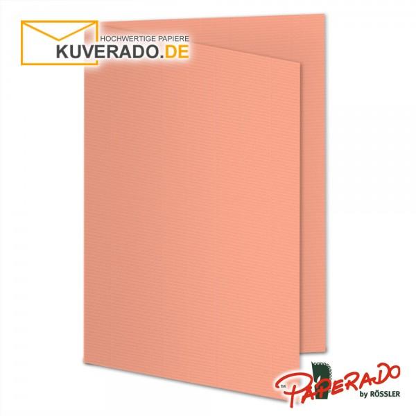 Paperado Faltkarten in coral DIN A6 Hochformat