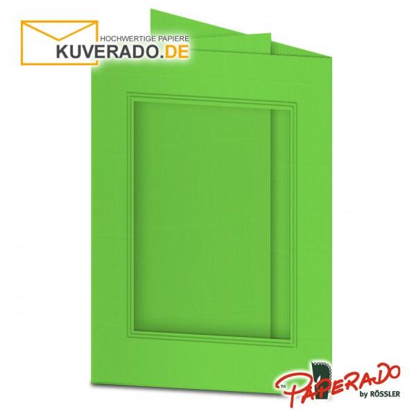 Paperado Passepartoutkarten mit eckigem Ausschnitt in apfelgrün DIN B6