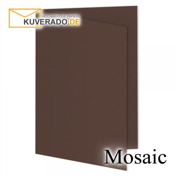 Artoz Mosaic dunkelbraune Doppelkarten DIN B6