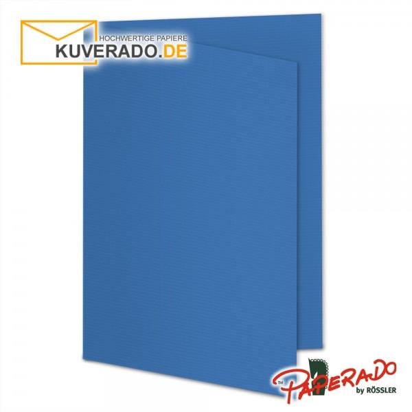 Paperado Karten in stahlblau DIN A5