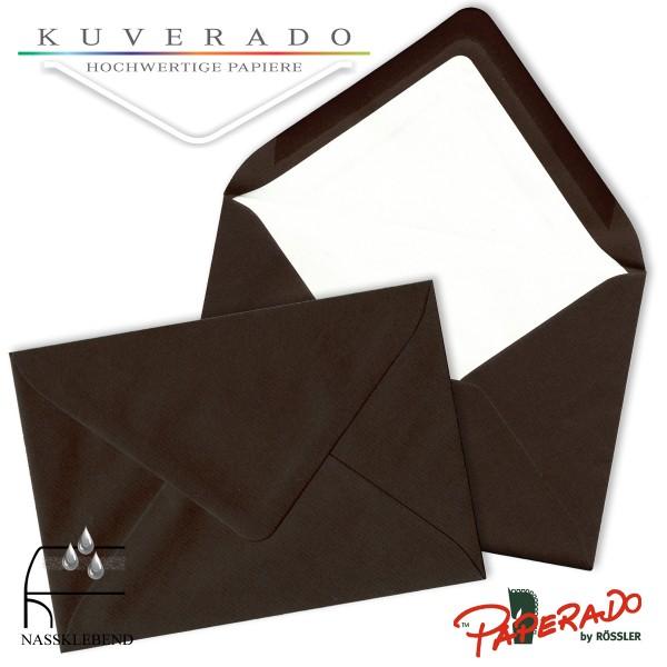 Paperado Briefumschläge in chocolate braun DIN B6