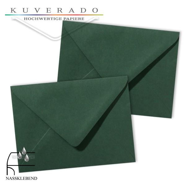 grüne Briefumschläge im Format 130 x 180 mm