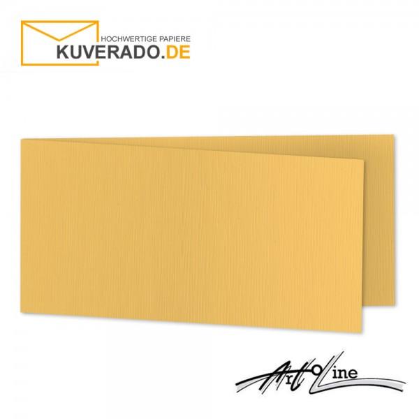 Artoz Artoline Karten/Doppelkarten in sandgold-orange DIN lang