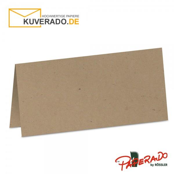 Paperado Tischkarten aus braunem Kraftpapier