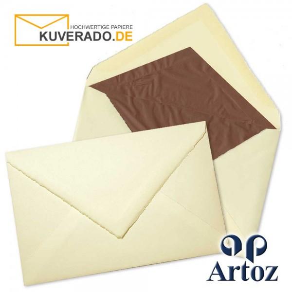 ARTOZ Rondo - Briefumschläge aus Büttenpapier im Format 12x18 cm chamois