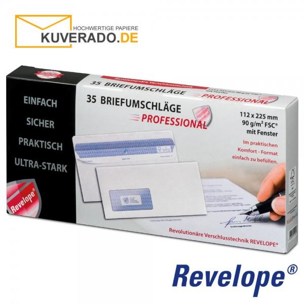Revelope® DIN lang Briefumschläge mit Adressfenster haftklebend 90g/qm | 35 Stück