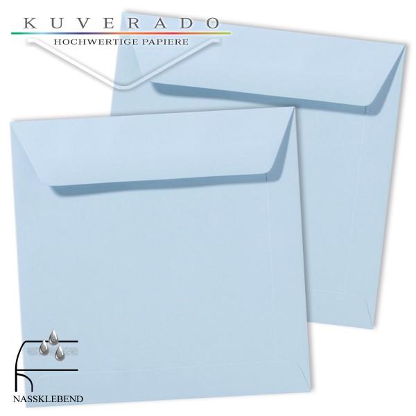 blaue Briefumschläge im Format quadratisch 170x170 mm
