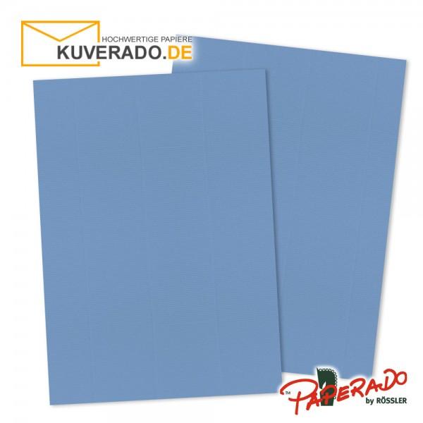 Paperado Briefkarton in blau DIN A4 220 g/qm