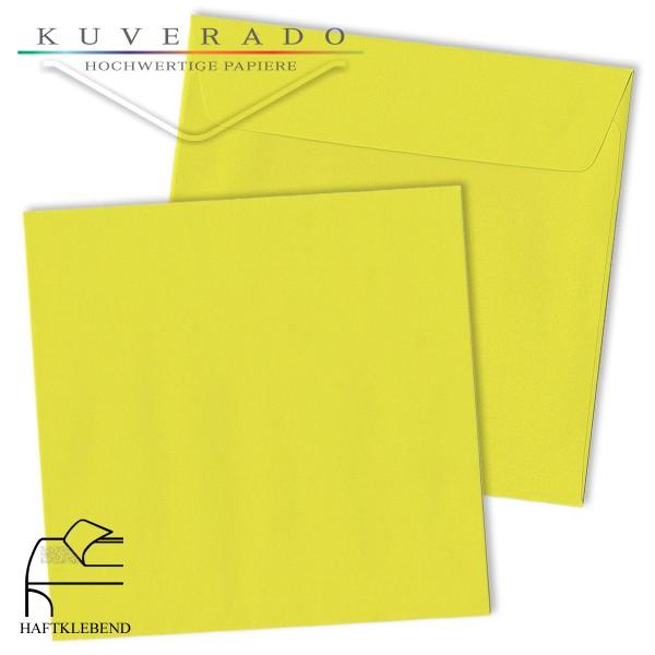 gelbe Briefumschläge quadratisch