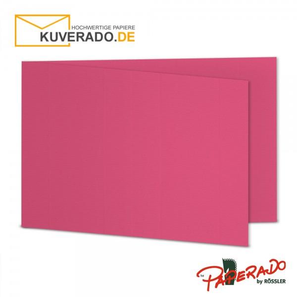 Paperado Karten in fuchsia rosa DIN B6 Querformat