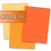 oranges Briefpapier