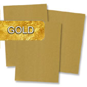 goldenes Briefpapier