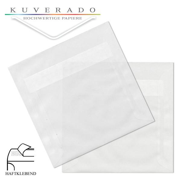 transparente Briefumschläge quadratisch in hochweiß