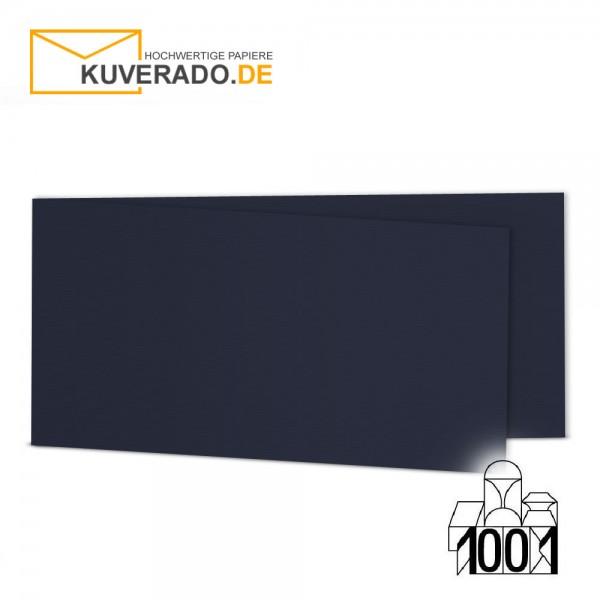 Artoz 1001 Faltkarten navy-blau DIN lang Querformat mit Wasserzeichen