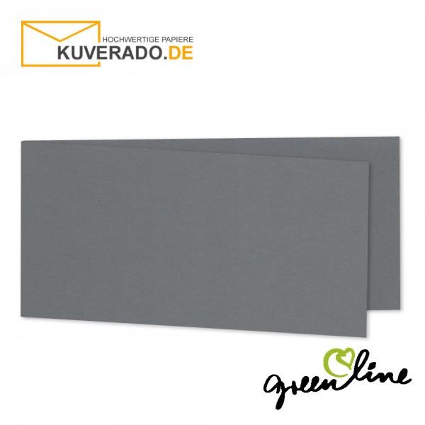 ARTOZ Greenline   Recycling Faltkarten in granit-grau DIN lang