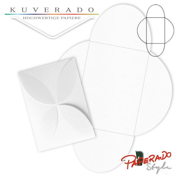 PAPERADO Style - Flügelkarte in weiß