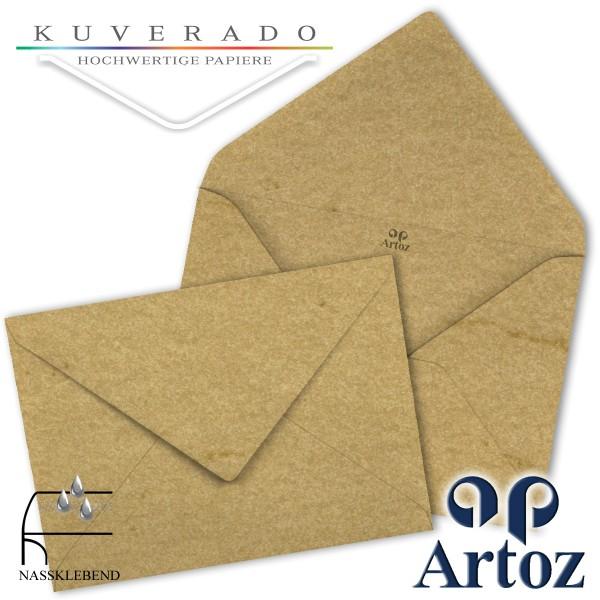 Artoz Rustik marmorierte Briefumschläge chamois DIN E6