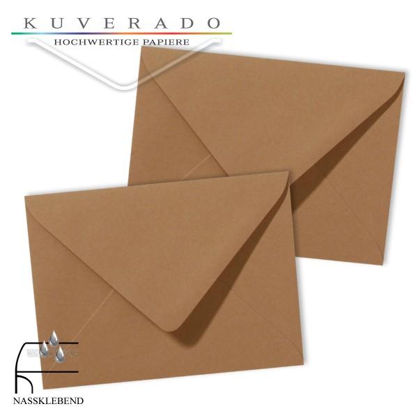 braune Briefumschläge im Format 130 x 180 mm