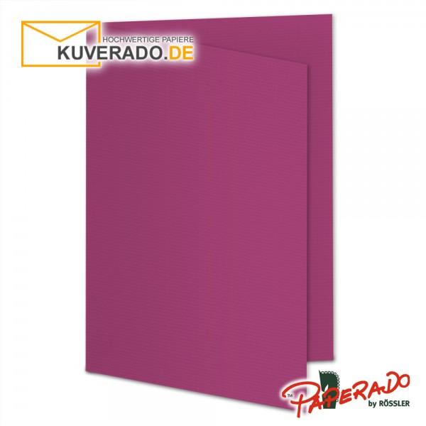 Paperado Karten in lila amarena DIN A5