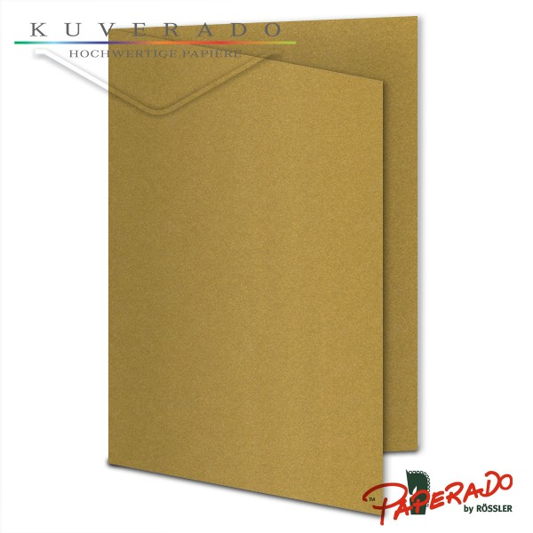 Paperado Karten in gold DIN B6