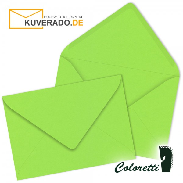 Hellgrüne DIN B6 Briefumschläge von Coloretti