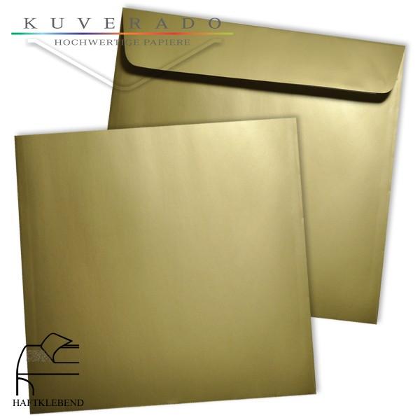 goldene Briefumschläge quadratisch 160x160 mm