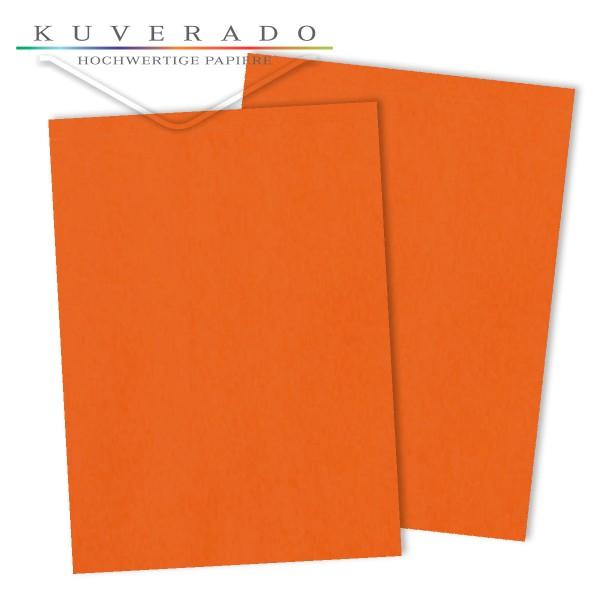 Briefpapier in dunkelorange 120 g/qm