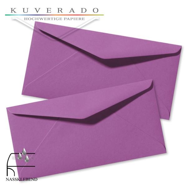 Lila Briefumschläge (violett) im Format DIN lang