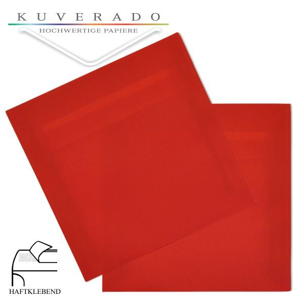 transparente Briefumschläge quadratisch in rot