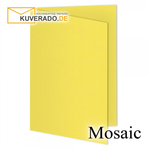 Artoz Mosaic gelbe Doppelkarten DIN A5