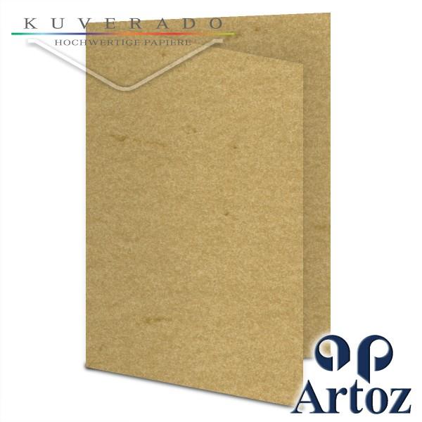 Artoz Rustik marmorierte Karten chamois DIN B6