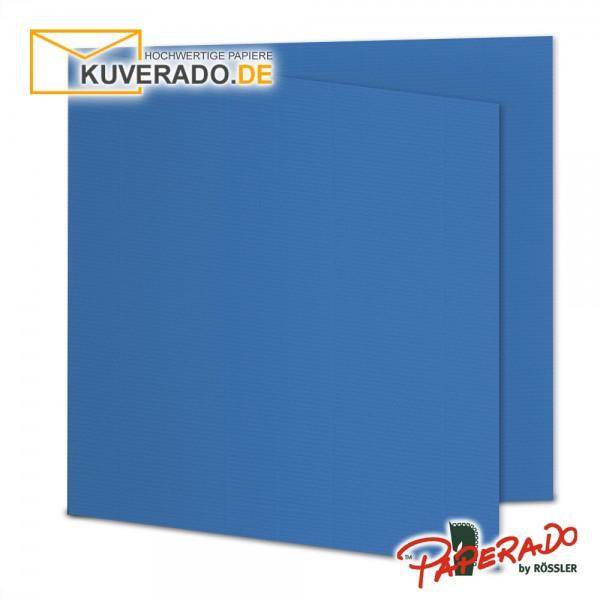 Paperado Karten in stahlblau quadratisch
