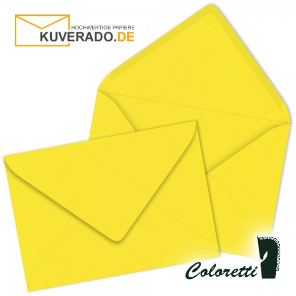 Goldgelbe DIN B6 Briefumschläge von Coloretti