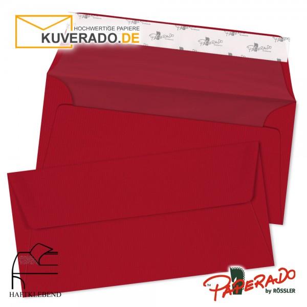 Paperado Briefumschläge rot DIN lang