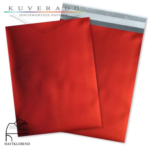 Rote Folienumschläge metallic in DIN C5