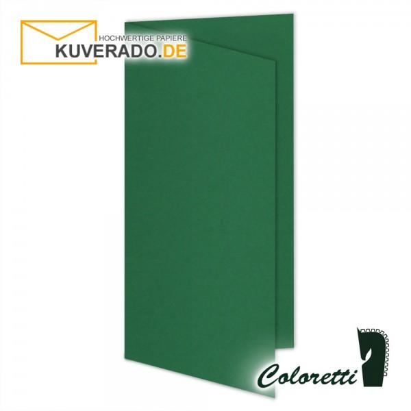 Grüne Doppelkarten in forest 220 g/qm von Coloretti