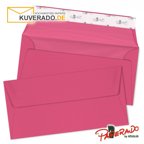 Paperado farbige Briefumschläge in rosa / fuchsia DIN lang